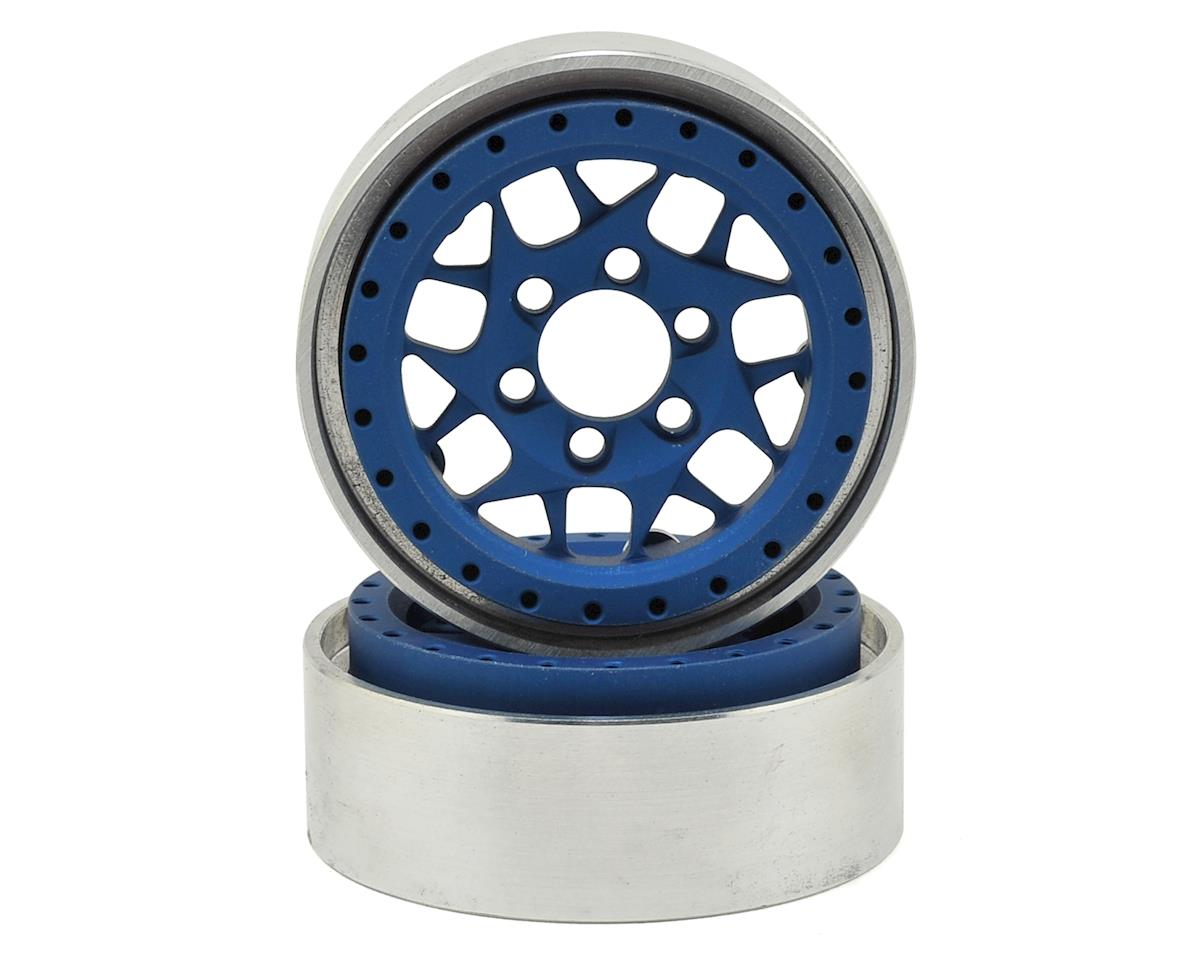 Vanquish Products KMC XD127 Bully 1.9 Beadlock Wheels (2) (Blue)