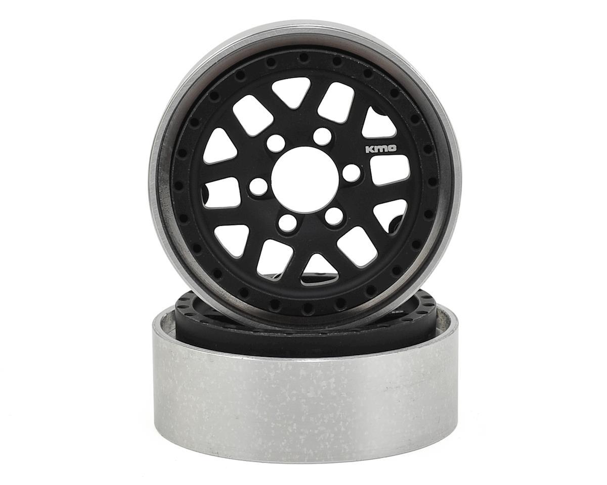 Vanquish Products KMC XD229 Machete 1.9 Beadlock Crawler Wheels (Black/Clear) (2)