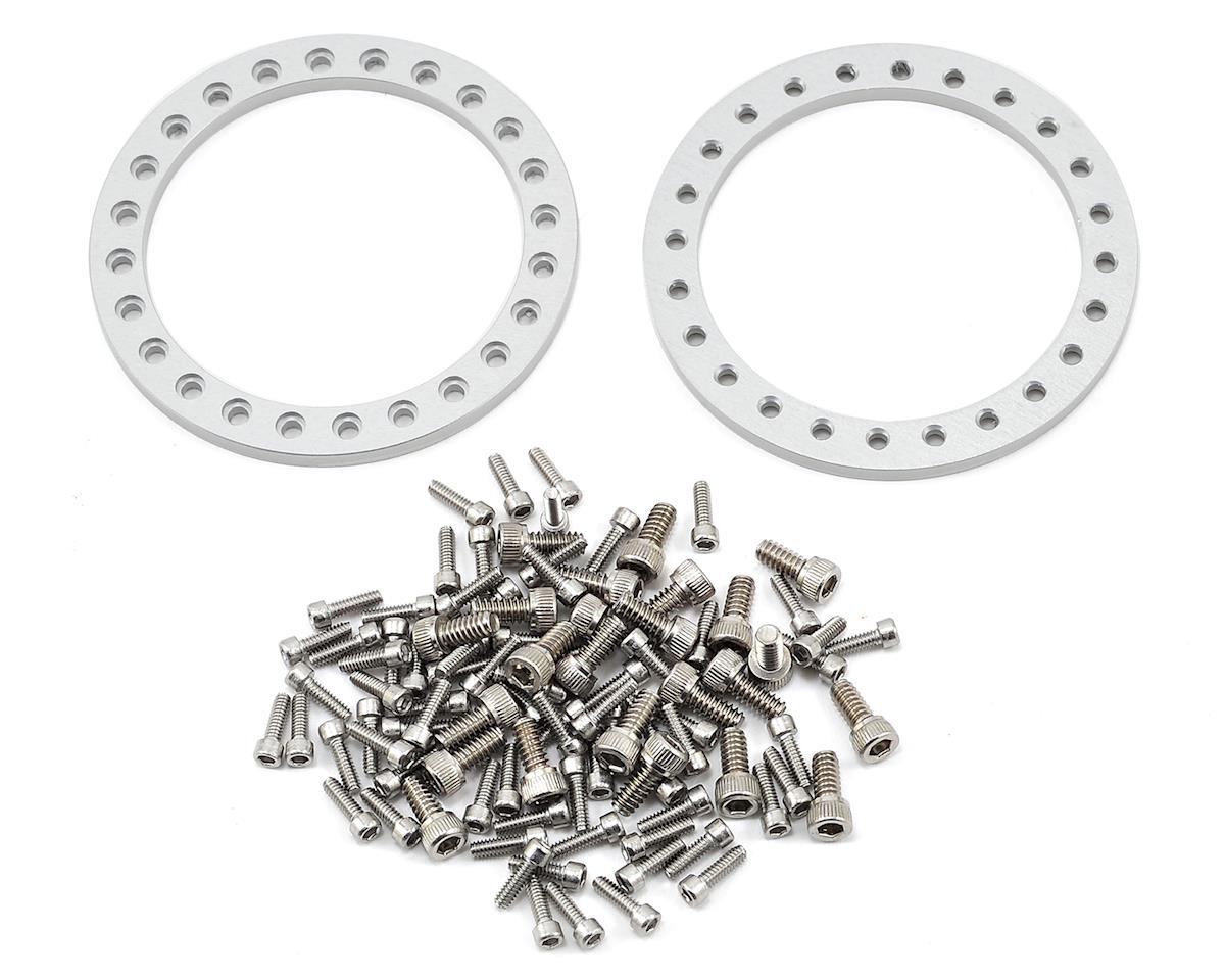 "Vanquish Products KMC XD229 Machete 1.9"" Beadlock Wheels (2) (Black/Clear)"