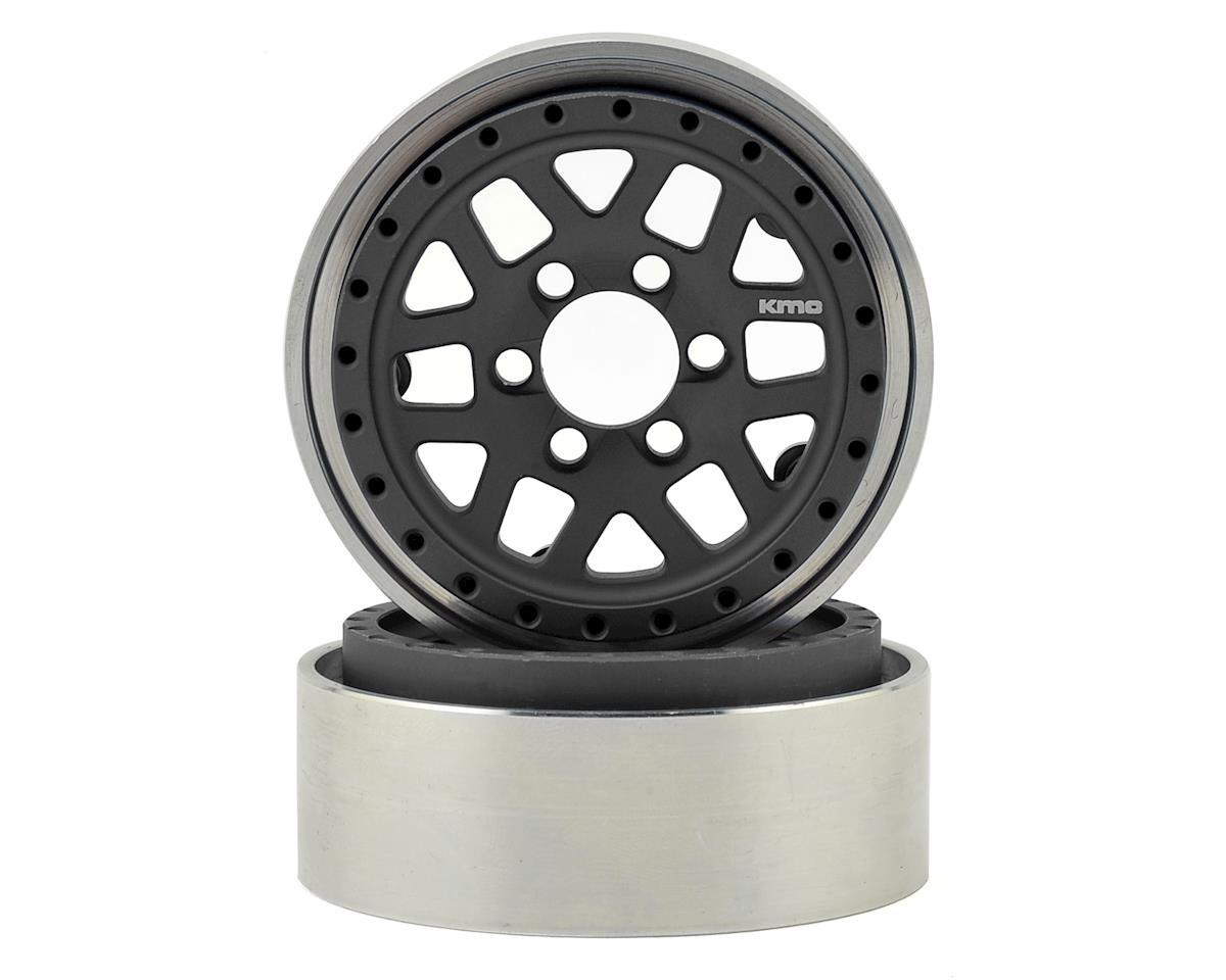 Vanquish Products KMC XD229 Machete 1.9 Beadlock Crawler Wheels (Grey/Black) (2)