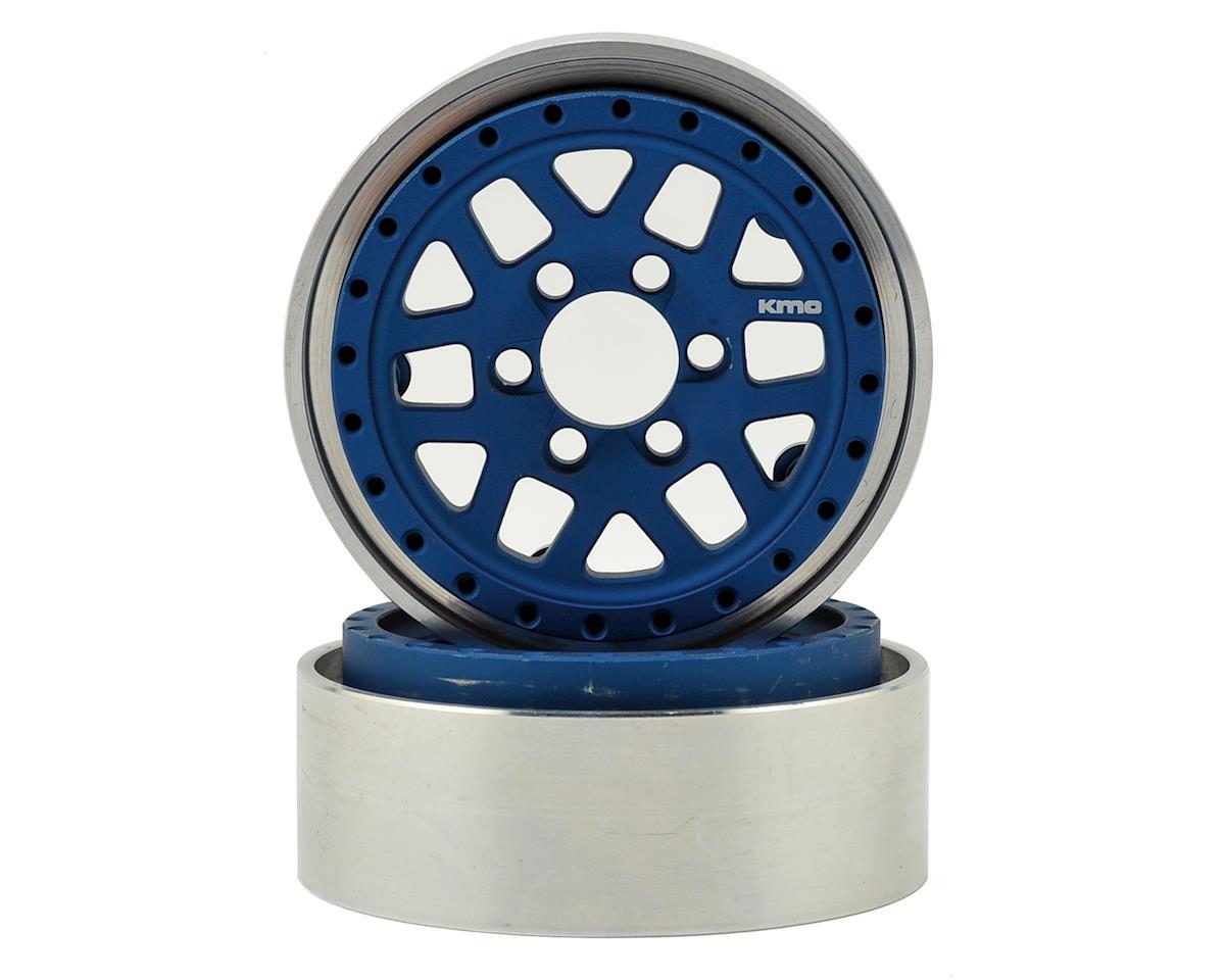 Vanquish Products KMC XD229 Machete 1.9 Beadlock Crawler Wheels (Blue/Black) (2)