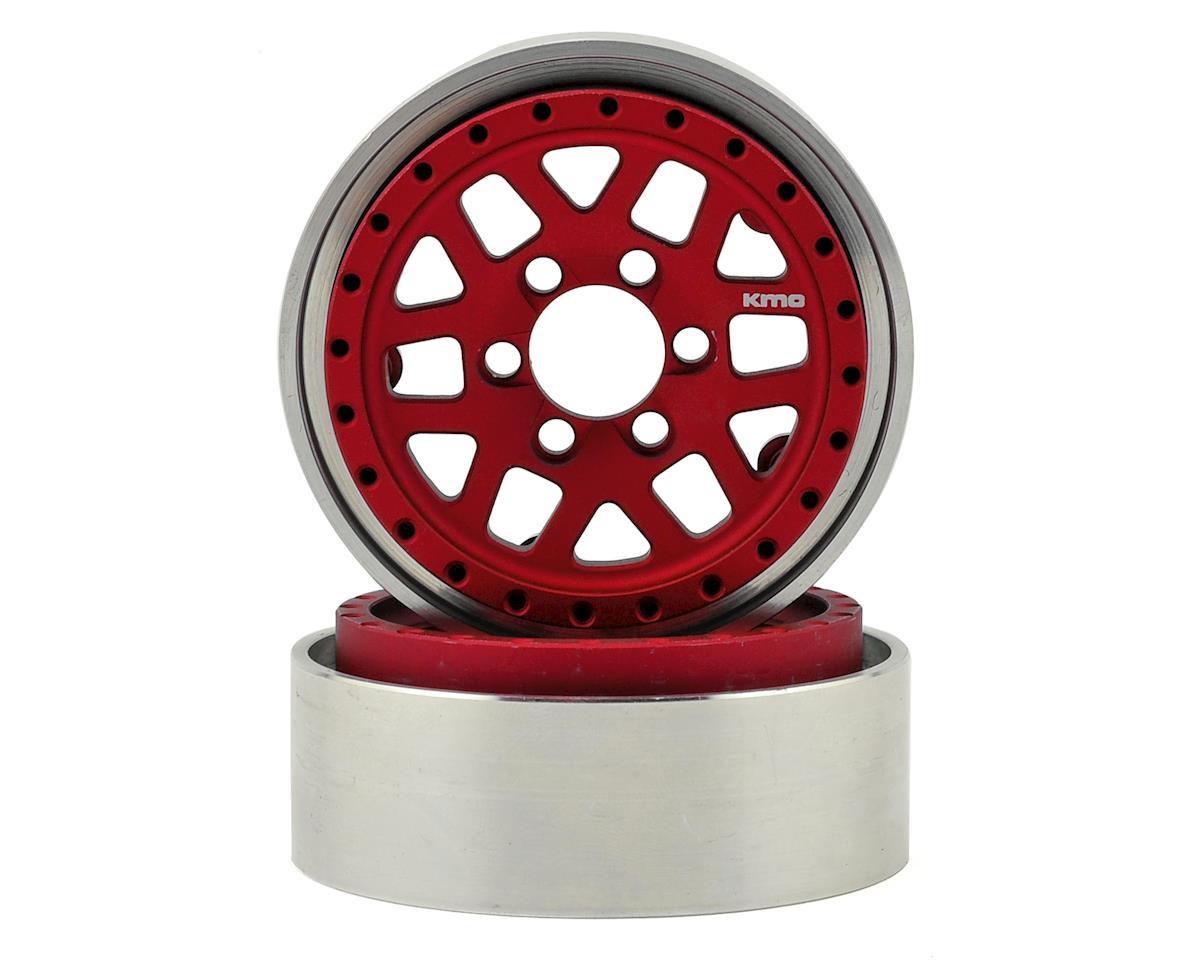 Vanquish Products KMC XD229 Machete 1.9 Beadlock Crawler Wheels (Red/Black) (2)