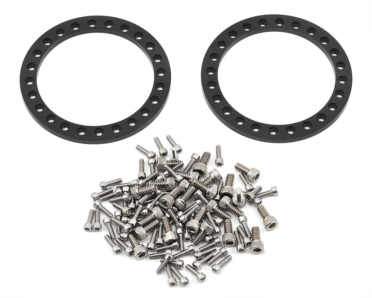 "Vanquish Products KMC XD229 Machete 1.9"" Beadlock Wheels (2) (Red/Black)"
