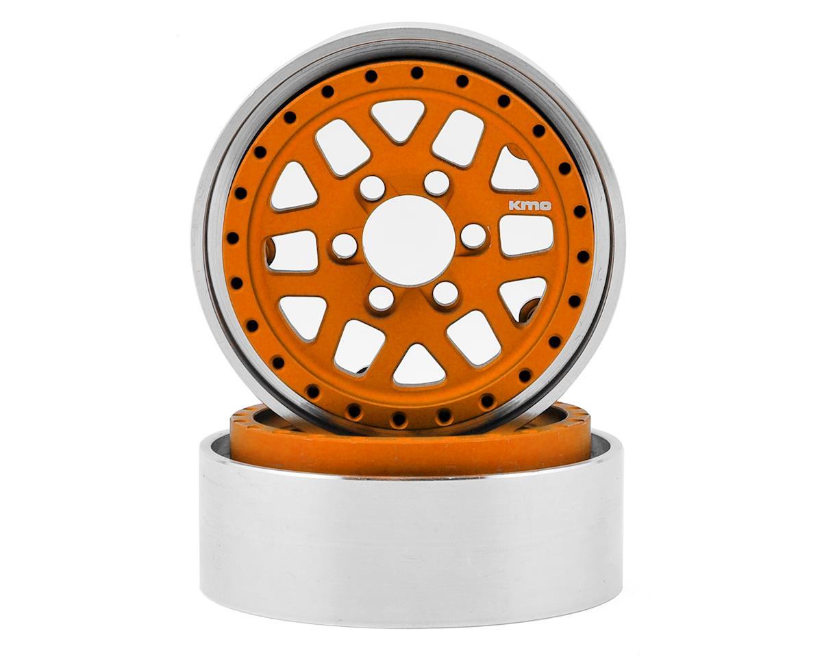 Vanquish Products KMC XD229 Machete 1.9 Beadlock Crawler Wheels (Orange) (2)