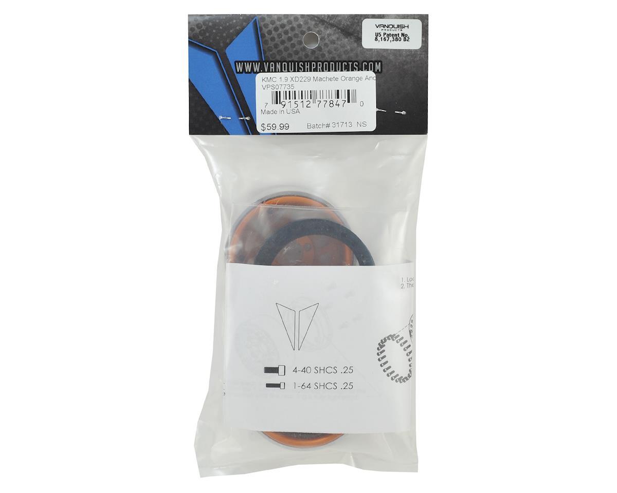 "Vanquish Products KMC XD229 Machete 1.9"" Beadlock Wheels (2) (Orange)"