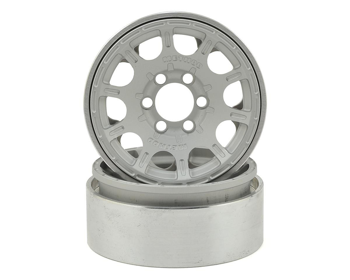 "Vanquish Products Method Roost 1.9"" Beadlock Wheel (2) (Silver)"