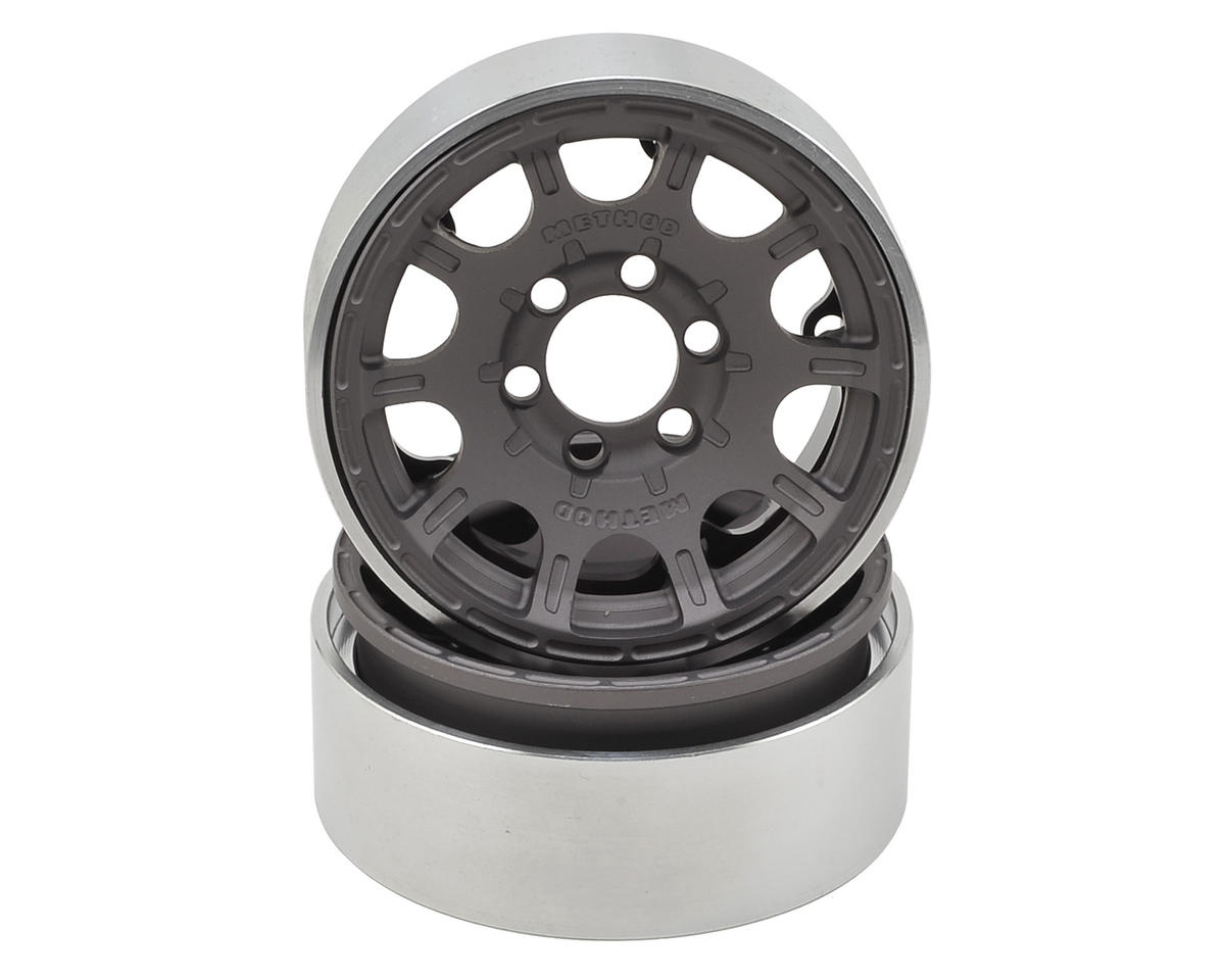 "Vanquish Products Method Roost 1.9"" Beadlock Wheel (2) (Grey)"