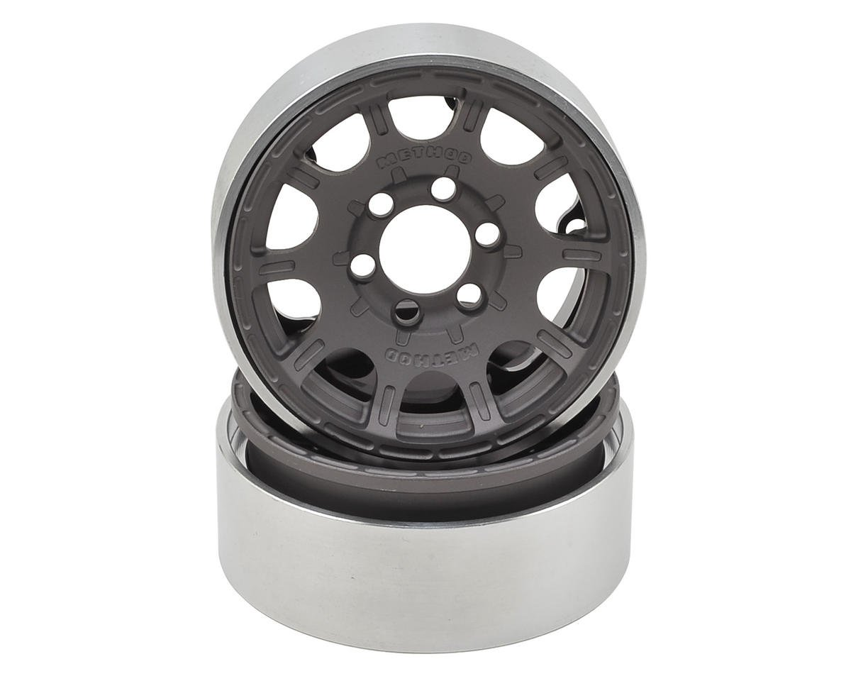 Vanquish Products Method Roost 1.9 Beadlock Crawler Wheels (Grey) (2)