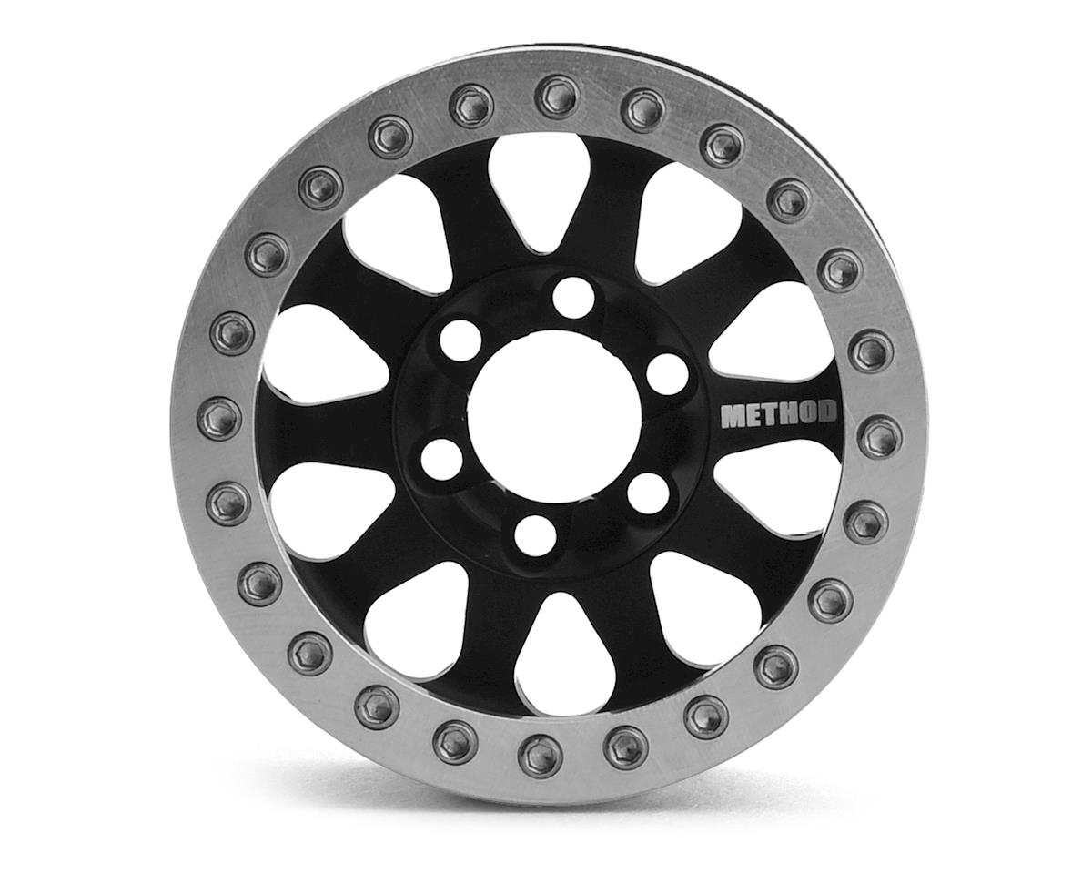 Vanquish Products Method 101 V2 1.9 Beadlock Crawler Wheels (Black/Silver) (2)