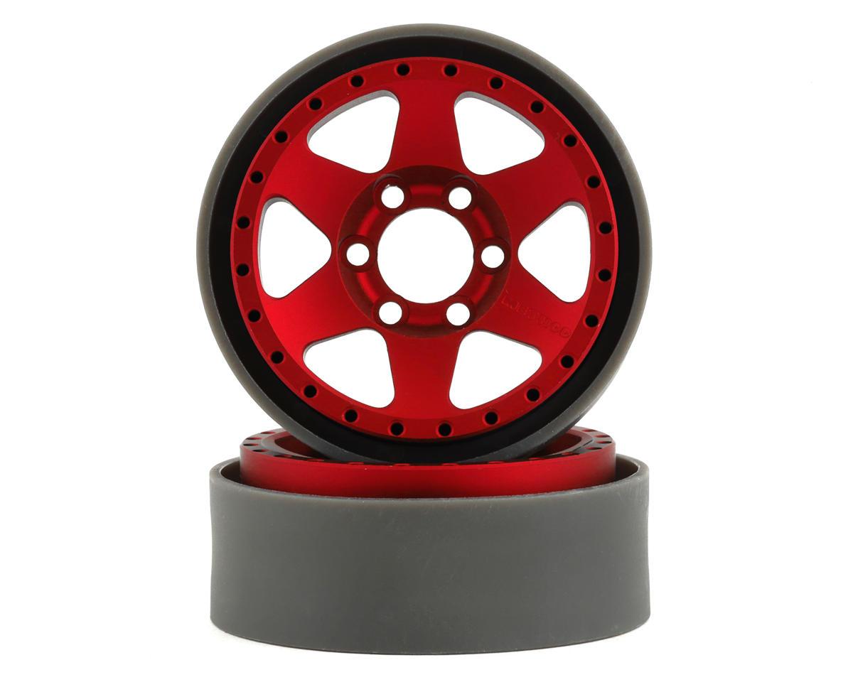 Vanquish Products Method MR310 1.9 Beadlock Crawler Wheels (Red) (2)