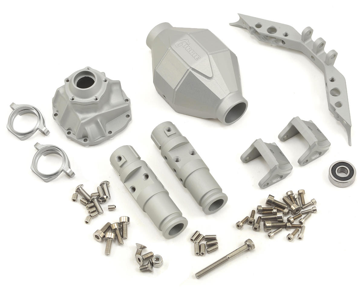 SCX10 Front Currie F9 Axle (Silver) by Vanquish Products
