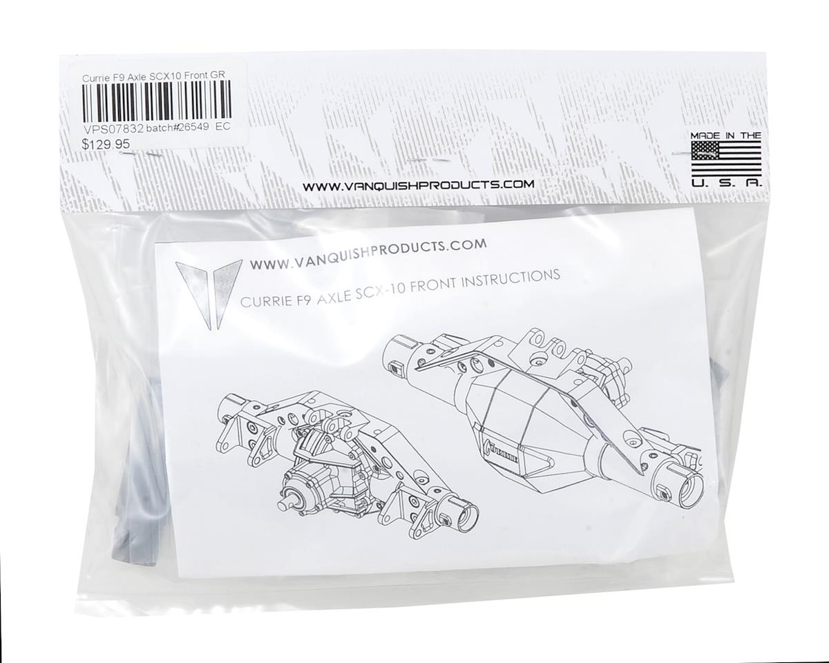 Vanquish Products SCX10 Currie F9 Front Axle Assembly (Grey)