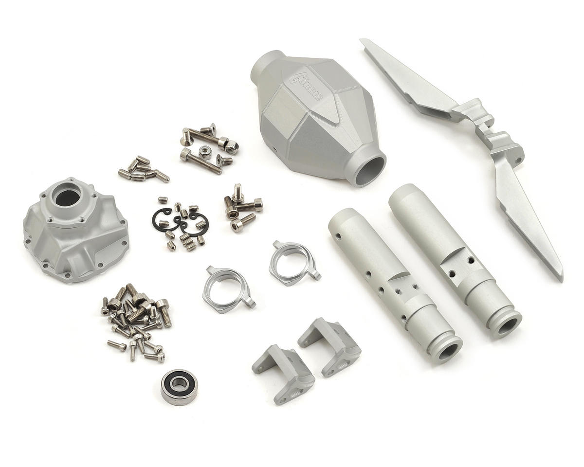 Vanquish Products SCX10 Rear Currie F9 Axle (Silver)