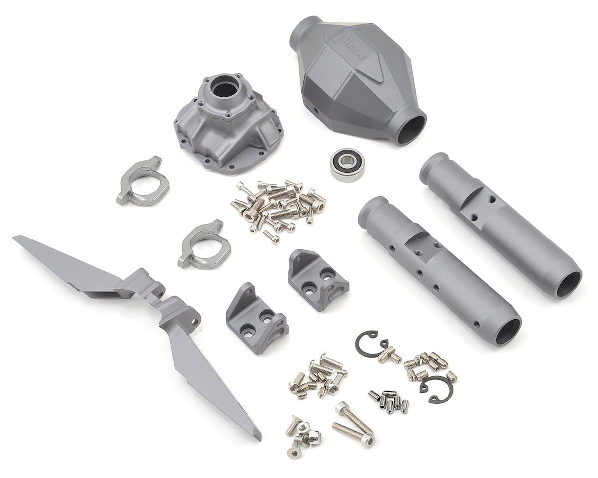 Vanquish Products SCX10 Currie F9 Rear Axle Assembly (Grey)