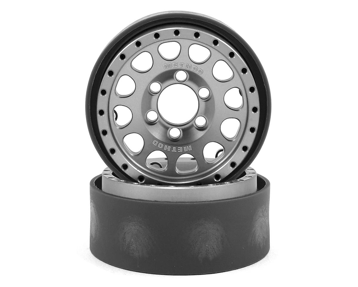 Vanquish Products Method 105 1.9 Beadlock Crawler Wheels (Silver/Black) (2)