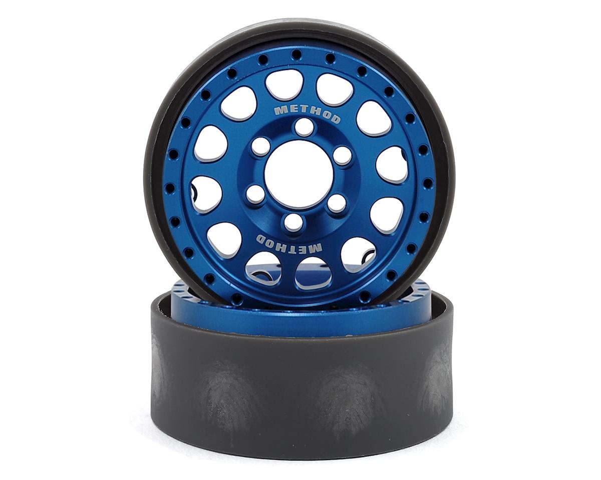 Vanquish Products Method 105 1.9 Beadlock Crawler Wheels (Blue/Black) (2)