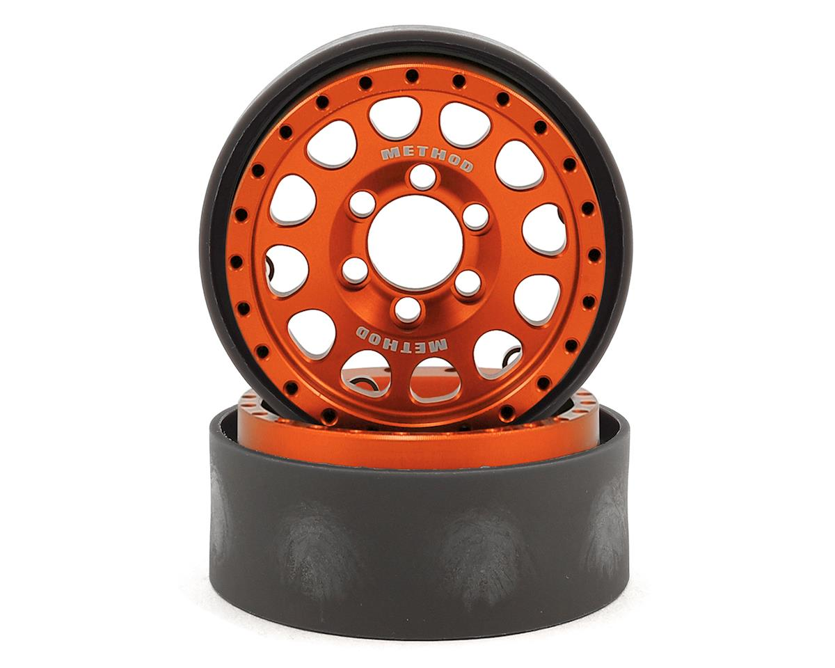 "Vanquish Products Method 105 1.9"" Wheel (2) (Orange/Black)"