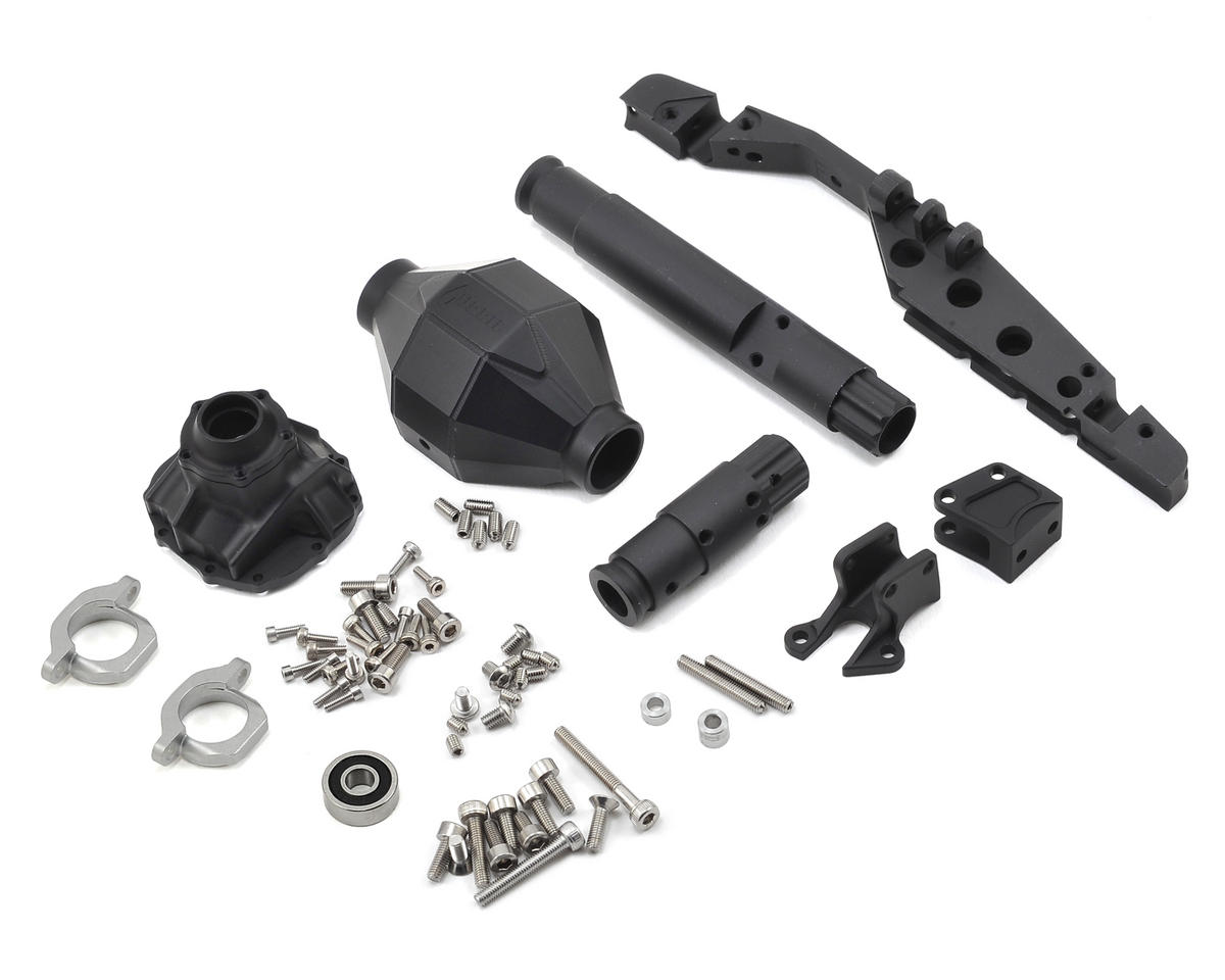AR60 Currie F9 Front Axle (Black) by Vanquish Products
