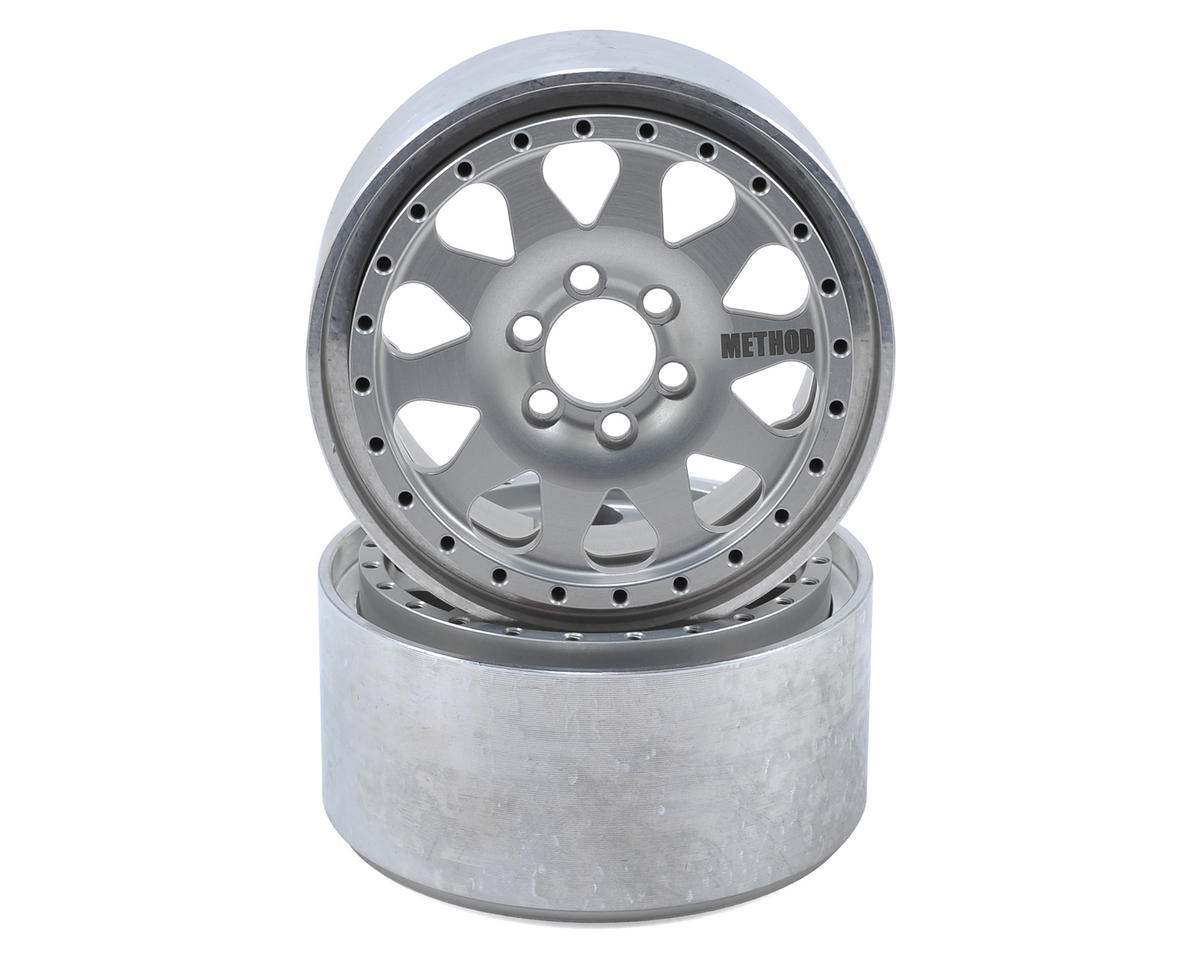 "Vanquish Products Method 101 2.2"" Beadlock Crawler Wheel (Silver) (2) (1.2 Wide)"
