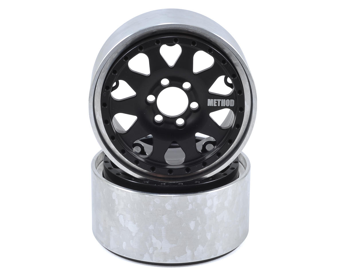 "Method 101 2.2"" Beadlock Crawler Wheel (Black) (2) (1.2 Wide) by Vanquish Products"