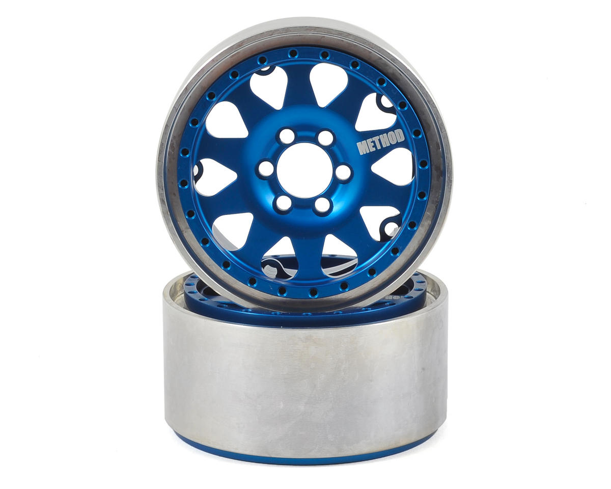 Vanquish Products Method 101 2.2 Aluminum Beadlock Crawler Wheel (2-Blue/Black)