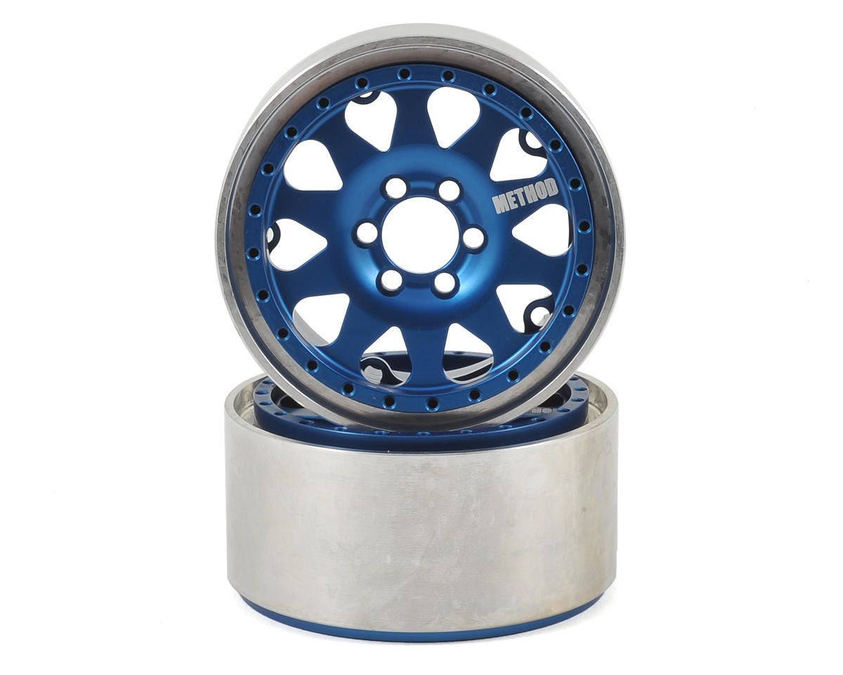 Vanquish Products Method 101 2.2 Aluminum Beadlock Crawler Wheel (2-Blue/Silver)