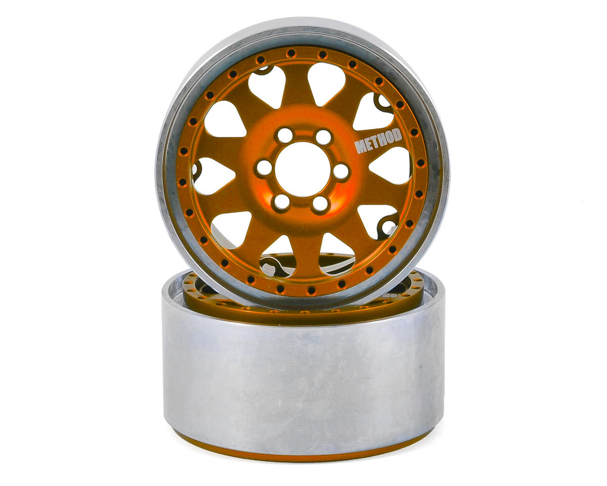 Vanquish Products Method 101 2.2 Aluminum Beadlock Crawler Wheel (2-Orange/Black