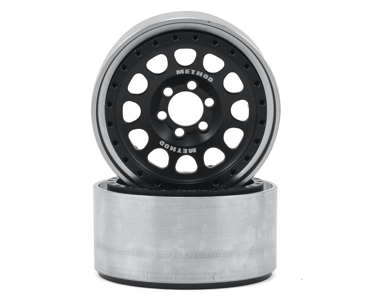 "Vanquish Products Method 105 2.2"" Wheel (Black/Silver) (2) (1.2"" Wide)"