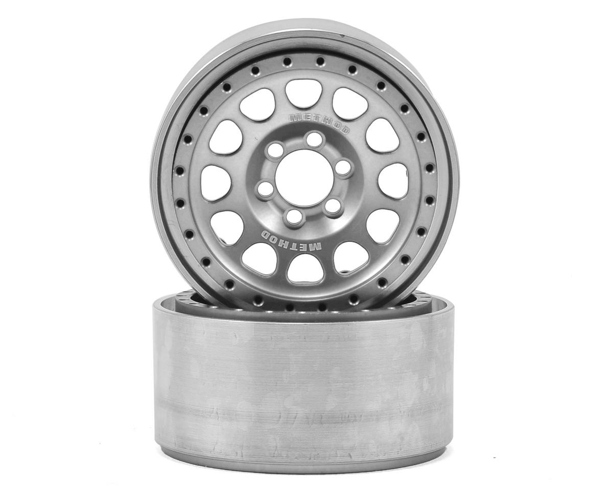 "Vanquish Products Method 105 2.2"" Wheel (Silver/Black) (2) (1.2"" Wide)"