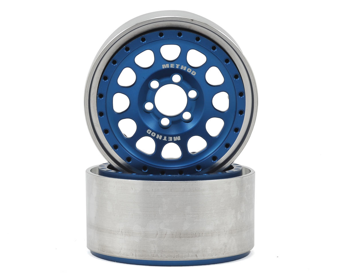 "Vanquish Products Method 105 2.2"" Wheel (Blue/Silver) (2) (1.2"" Wide)"