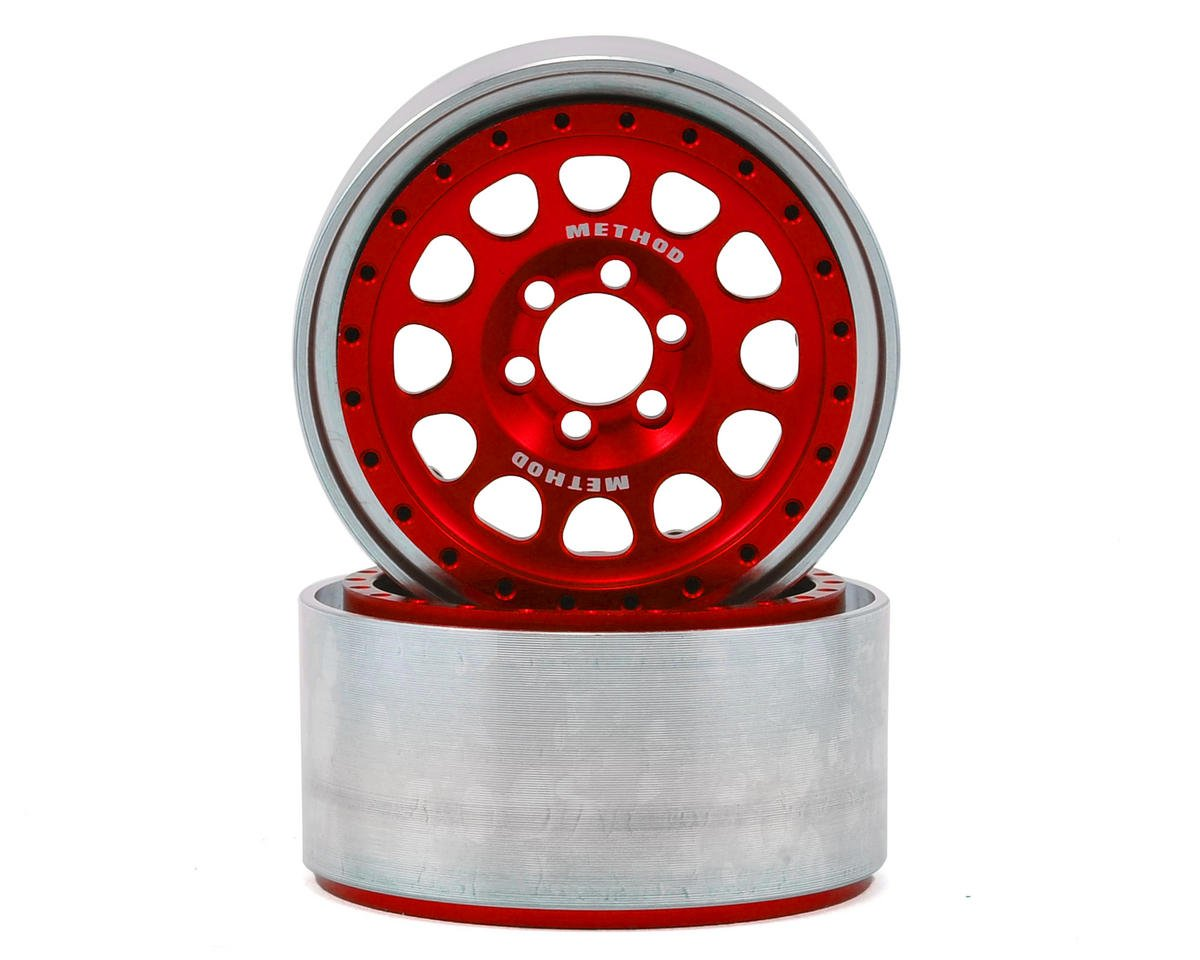 "Vanquish Products Method 105 2.2"" Wheel (Red/Black) (2) (1.2"" Wide)"