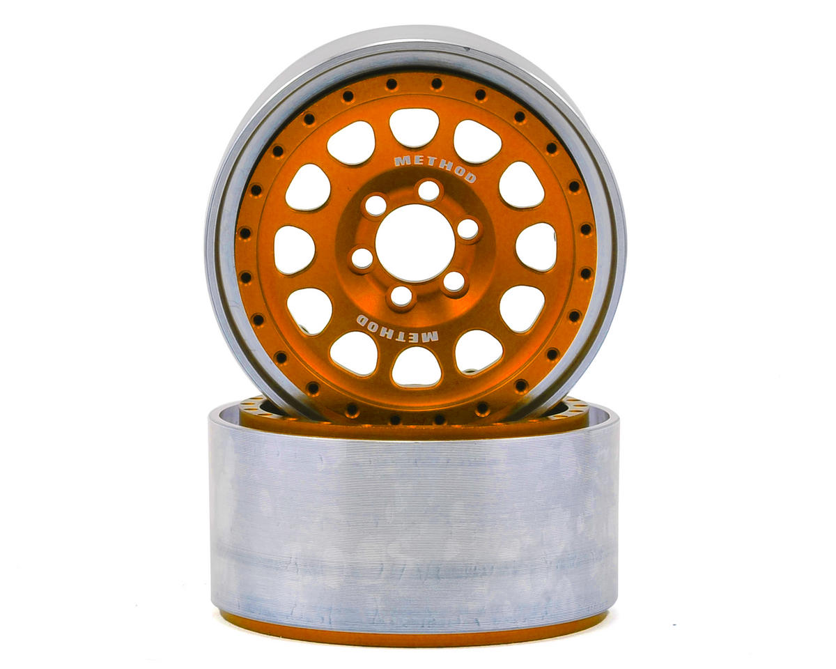 "Vanquish Products Method 105 2.2"" Wheel (Orange/Black) (2) (1.2"" Wide)"