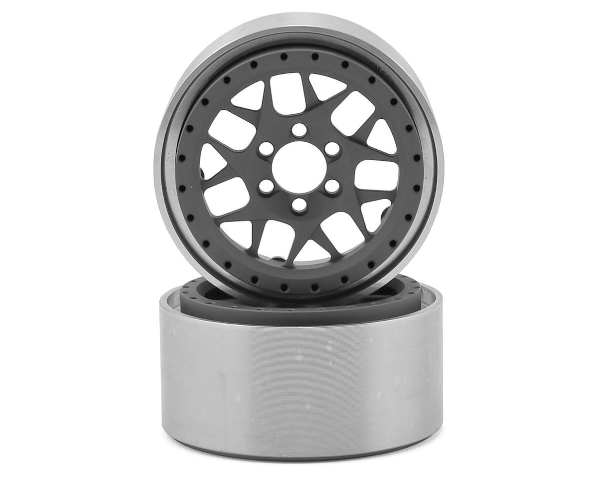 "Vanquish Products KMC XD127 Bully 2.2"" Wheel (Grey/Black) (2) (1.2"" Wide)"