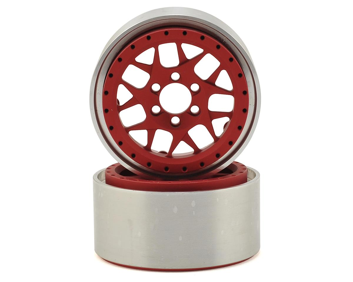 "Vanquish Products KMC XD127 Bully 2.2"" Wheel (Red/Black) (2) (1.2"" Wide)"