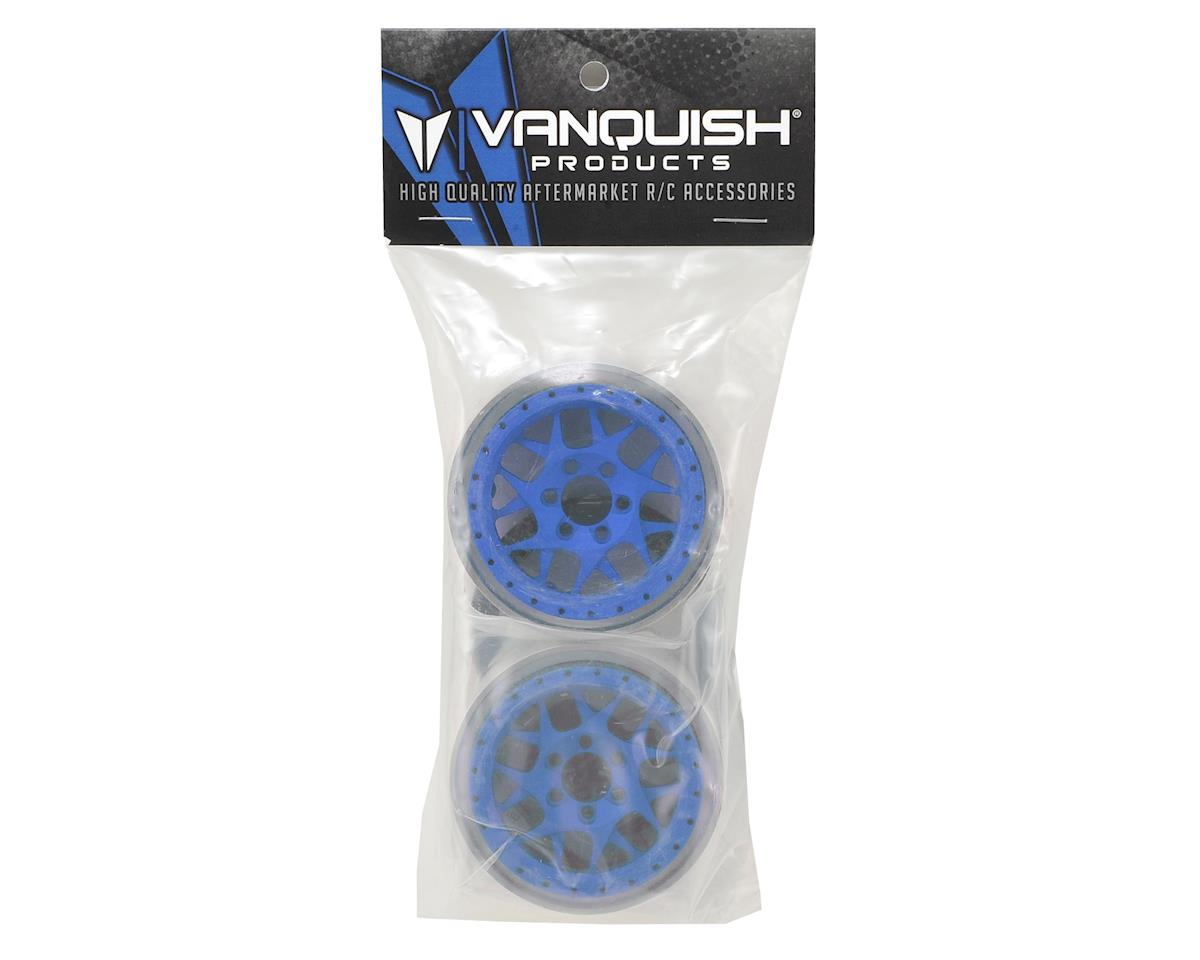 "Vanquish Products KMC XD127 Bully 2.2"" Wheel (Blue/Black) (2) (1.2"" Wide)"
