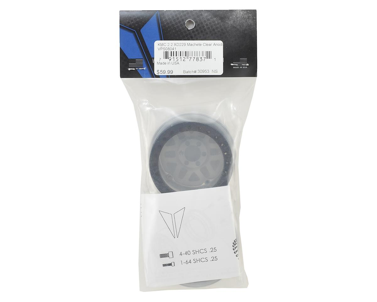 "Vanquish Products KMC XD229 Machete 2.2"" Wheel (Silver/Black) (2)"