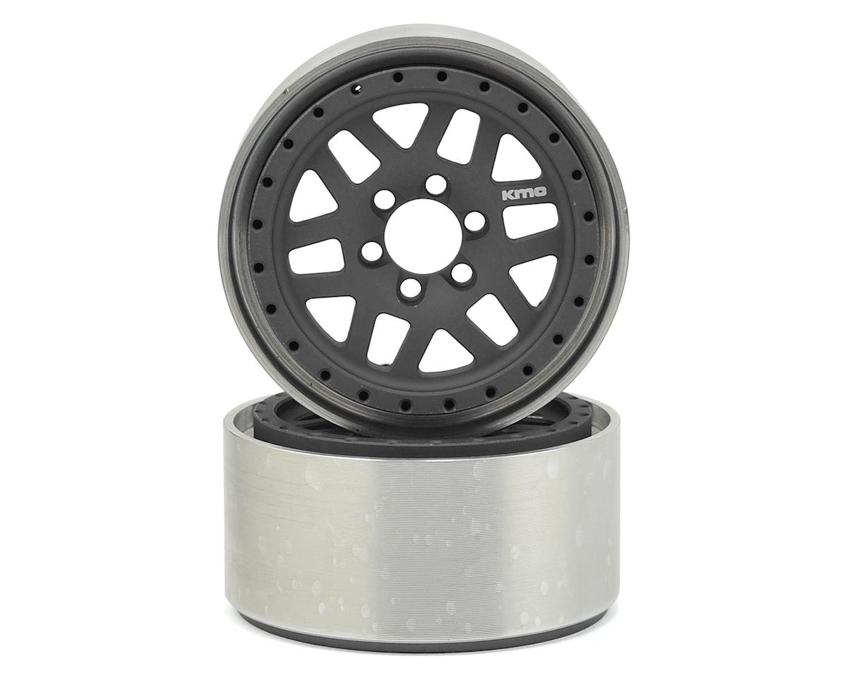 "KMC XD229 Machete 2.2"" Beadlock Wheels (2) (Grey/Black) by Vanquish Products"