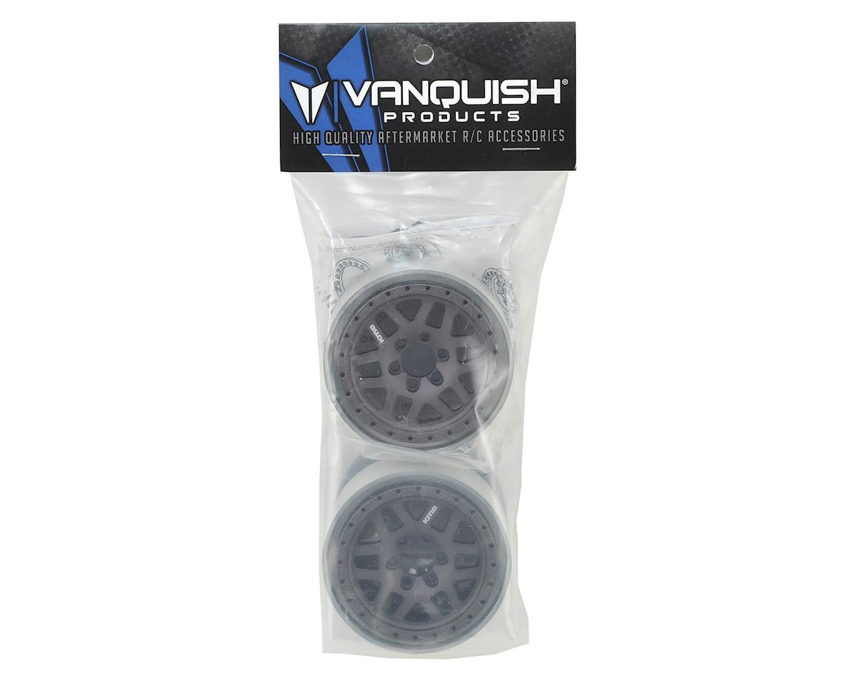 "Vanquish Products KMC XD229 Machete 2.2"" Beadlock Wheels (2) (Grey/Black)"