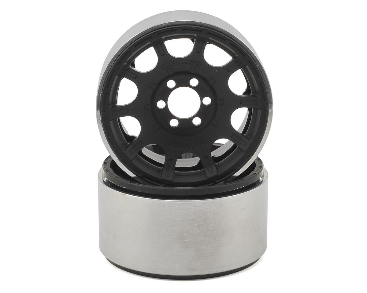 "Vanquish Products Method Roost 2.2"" Beadlock Wheels (2) (Black) (1.2"" Wide)"