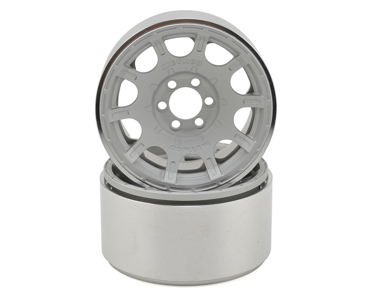 "Vanquish Products Method Roost 2.2"" Beadlock Wheels (2) (Silver) (1.2"" Wide)"