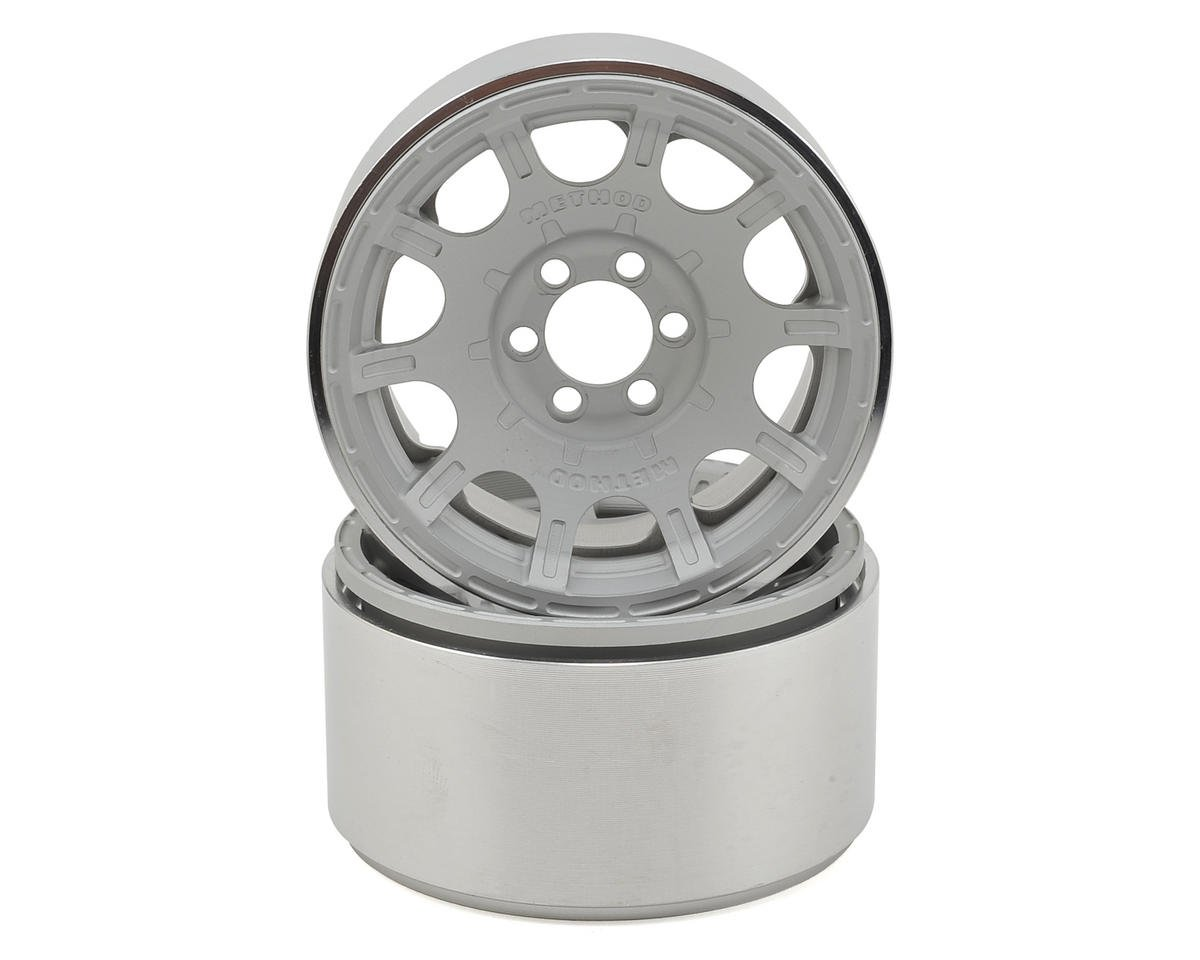 "Method Roost 2.2"" Beadlock Wheels (2) (Silver) (1.2"" Wide) by Vanquish Products"