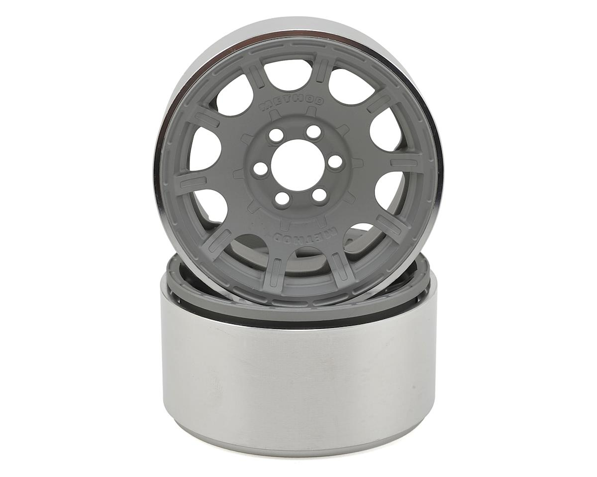 "Vanquish Products Method Roost 2.2"" Beadlock Wheels (2) (Grey) (1.2"" Wide)"
