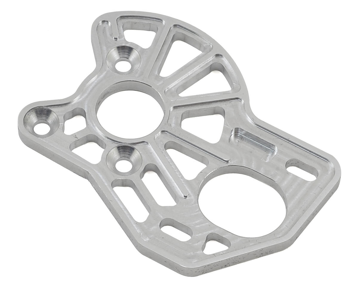 VRP Associated B6 'Spur Guard Lite' Laydown Motor Plate (Silver)