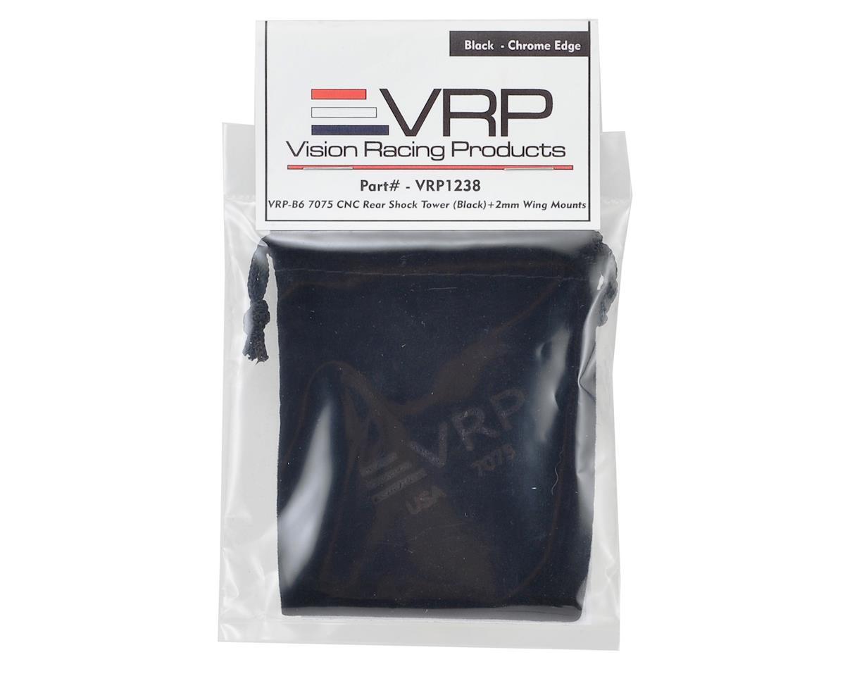 VRP B6/B6D Aluminum Rear Shock Tower (Black) (+2mm Higher Wing Mounts)