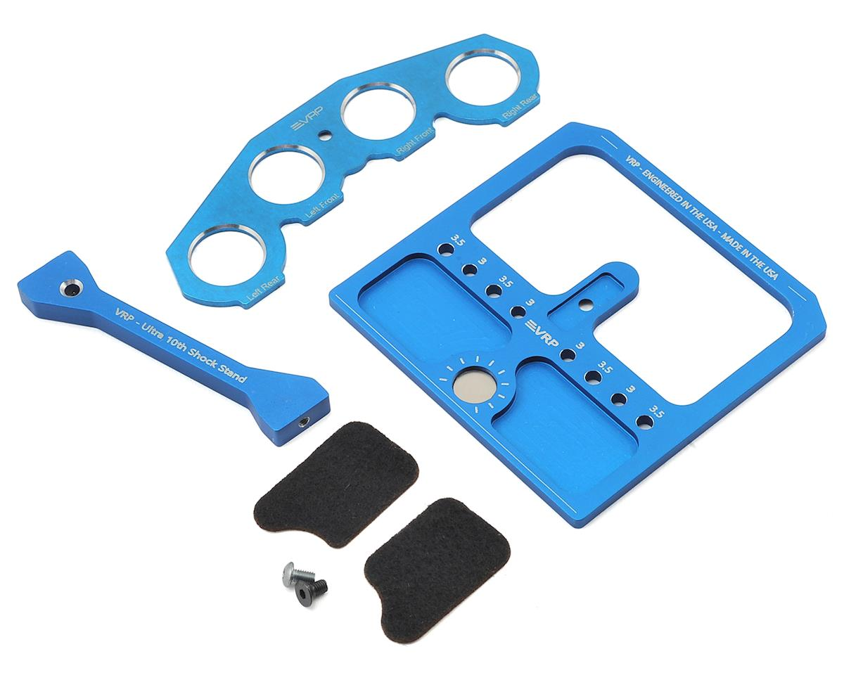 VRP 1/10 Aluminum Shock Stand w/Parts Tray & Storage Pouch (Blue)