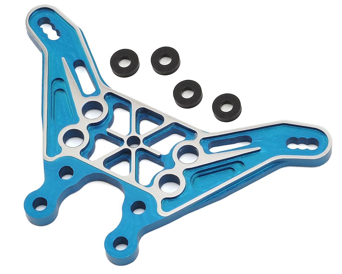 "VRP B6/B6D Aluminum Tall ""Option"" Rear Shock Tower (Blue)"