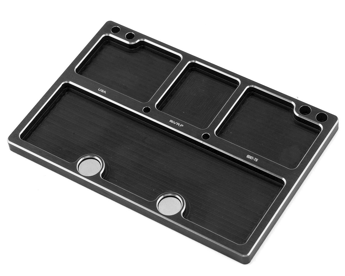 VRP 120x80mm Aluminum Medium Parts Tray w/Storage Pouch (Black)