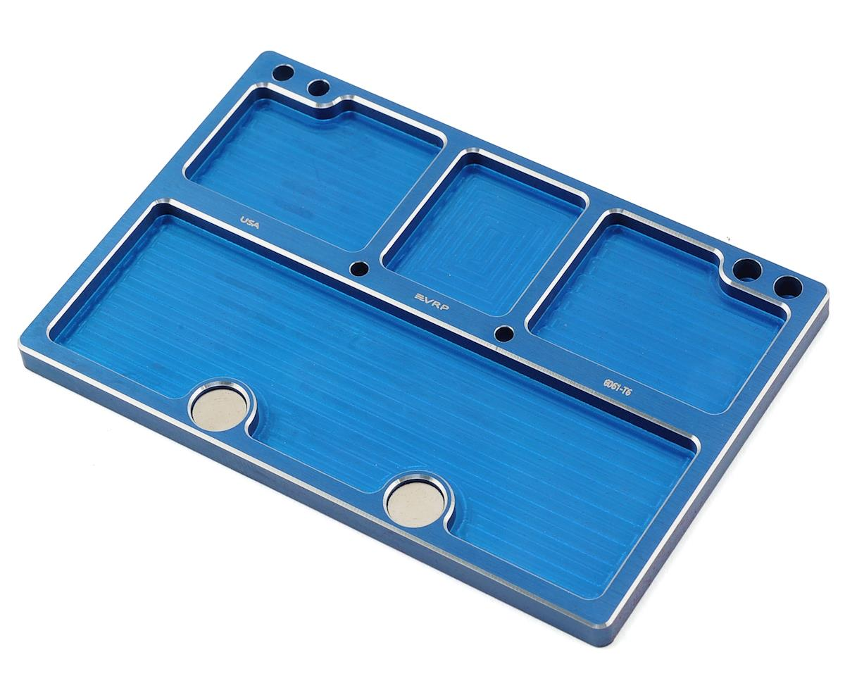 VRP 120mmx80mm Aluminum Medium Parts Tray w/Storage Pouch (Blue)