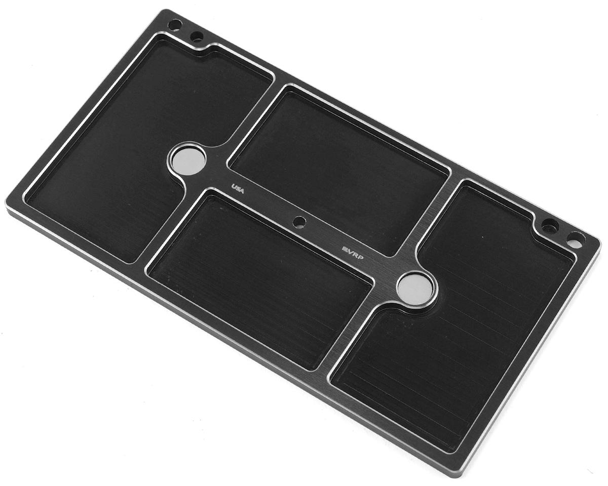 150mmx80mm Aluminum Large Parts Tray (Black) by VRP