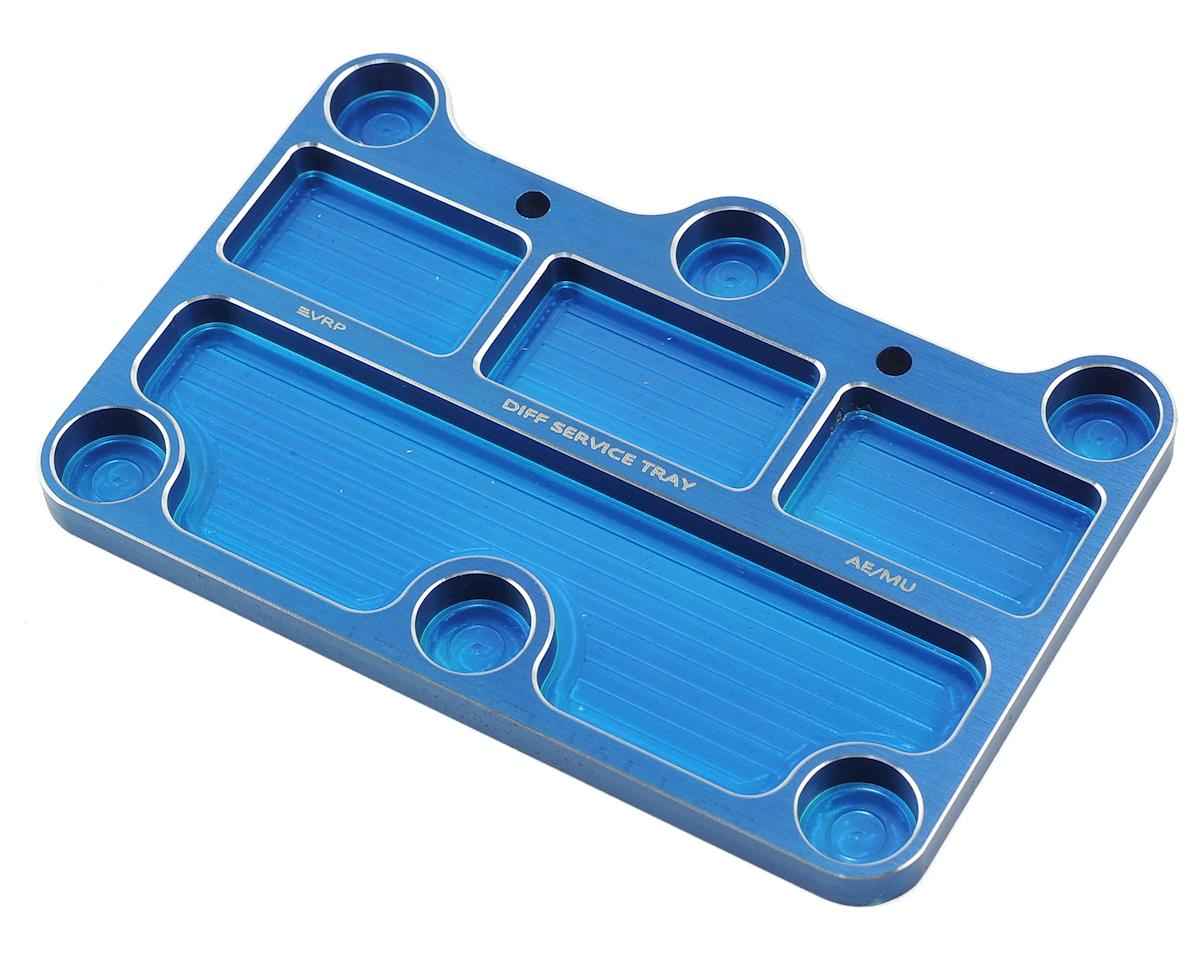 VRP 1/8 Associated/Mugen Aluminum Diff Service Tray (Blue)